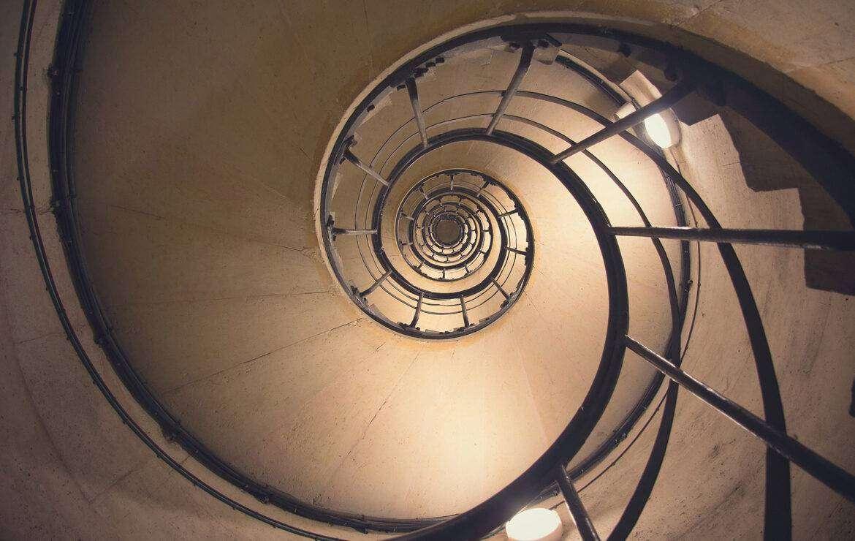 Golden ration in spiral stairway